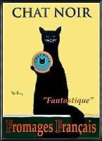 ポスター ケン ベイリー Chat Noir 額装品 アルミ製ハイグレードフレーム(ブラック)