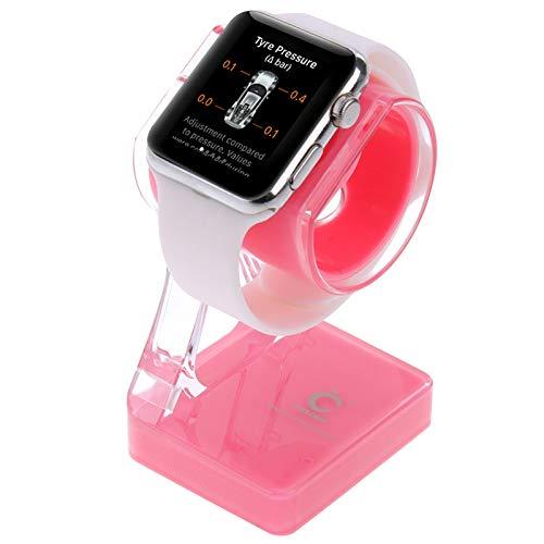 Titular del cargador HH-SYPLASTY para Apple Watch 38mm & 42mm, stand para iPhone 6s & 6s Plus, iPhone 6 & 6 Plus, iPhone 5 y 6, Iphone 5 y 5, Galaxy S6 / S5, HTC, Nokia, Sny (Negro) Strap de manzana ,