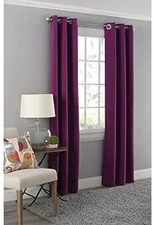 Mainstay Blackout Energy Efficient Grommet Curtain Panel, 40x63 Purple
