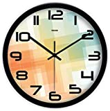 Reloj PLH Bar Internet Cafés Tienda de ropa del centro comercial restaurante tienda de bebidas sala de juego nupcial Tienda reloj de pared de metal reloj de pared 30.5-35.5CM decorar, Negro, 30.5 * 30