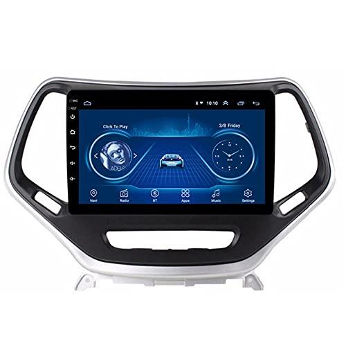 Android 10.0 8 Core Car stereo radio de navegación por satélite FM AM Autoradio 2.5D Pantalla táctil para Jeep CHEROKEE 2014-2017 Navegador GPS Bluetooth WIFI GPS USB SD player(Color:4G+WIFI 2G+32G)