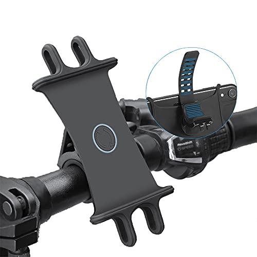 CHAOER Soporte Teléfono Móvil Bicicleta,Soporte movil Anti Vibración de Silicona con Rotación 360°,Motocicleta Bicicleta Teléfono Soporte,para 4.0'' - 6.5'' Smartphones