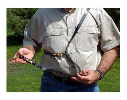 Leerburg amischen Leder Police Leine, 6'lang 3/10,2cm breit, schwarz