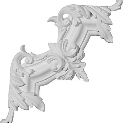 Ekena Millwork 11 3/4 inch W x 11 3/4 inch H x 1 8 inch P Pompeii Panel Moulding Corner