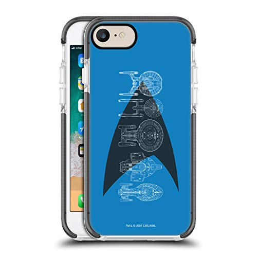 Head Case Designs Officially Licensed Star Trek Delta Complete Ships Of The Line Black Shockproof Gel Bumper Case Compatible With Apple iPhone 7 / iPhone 8 / iPhone SE 2020