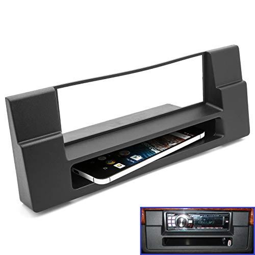Adapter Universe Façade d'autoradio 1 DIN pour BMW Série 5 (E39) BMW X5 (E53) avec compartiment de rangement.