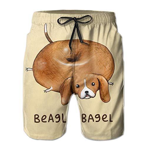 Beach Shorts Beagle Bagel Donuts Zwembroek voor heren, Quick Dry