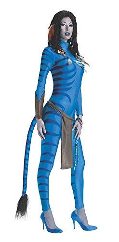 narrenkiste R889807-M 38-40 blau Damen Neytiri Avatar Kostüm Gr.38-40