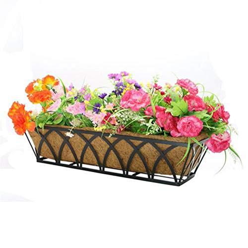 Macetas para flores Mantiene el forro de la humedad Forma de arco largo Forro de reemplazo de fibra...