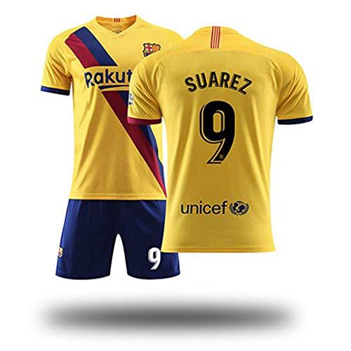 GSPURS Fútbol Club Barcelona Auswärtsspiel Suarez # 9 Kinder Jugend Fußball Trikot und Shorts, Kostüm Sportswear Kleidung für Männer Fußball Trikot Jugend Frauen Jungen Kinder Kidswear-3-28