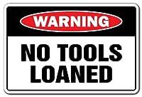 金属標識-工具や機材の警告標識なし
