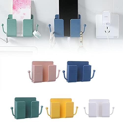 GUOL Wall Mounted Storage Box,Soporte para Mando A Distancia De Pared, Caja De Almacenamiento Multifuncional,Soporte Autoadhesivo para TeléFono-Control Remoto, para TeléFono, Control Remoto 5pcs