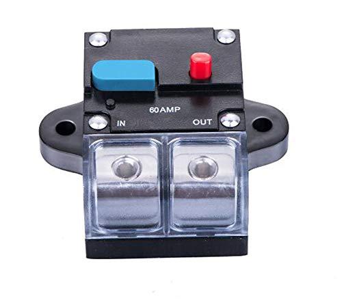 Portafusibles de motor Disyuntor inversor Audio de coche Disyuntor en línea de energía solar con cubierta impermeable para motor,coche y barco marino