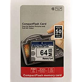 64MB (Compact Flash Card SDC-64 (CAV) Compact Flash Memory 1 64 MB storage capacity CompactFlash memory card Built-in industry-standard compatibility
