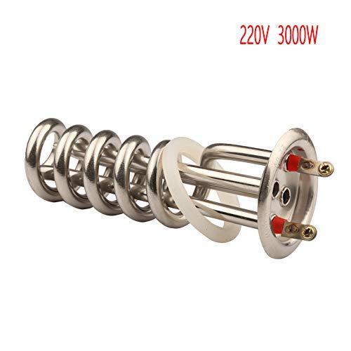 STHfficial deksel 63 mm 220 V 3000 W buis voor radiatoren in spiraalvorm, elektrische destilleermachine, verwarmingsbuis voor stoomreiniger
