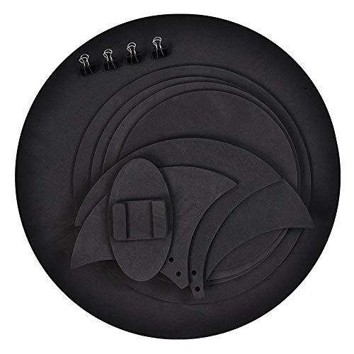 10Pcs Sordine Silenziatore Batteria Pad Muto Drumming Pratica Pad Bass Drums Sound off/Quiet Tamburo per Allenamento Nero