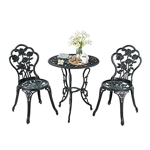 Set di 3 Tavolo e Sedie da Giardino  Rotondo  da Esterno