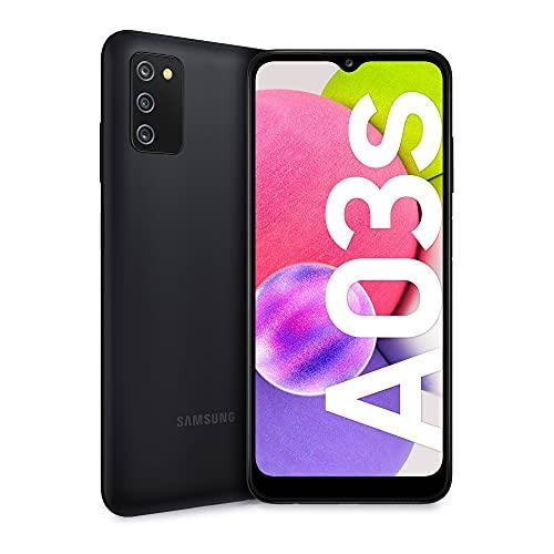 Samsung Galaxy A03s Smartphone Android, Display Infinity-V HD+ da 6,5 Pollici, 3 GB di RAM e 32 GB di Memoria Interna Espandibile, Batteria da 5.000 mAh, Nero [Versione Italiana]