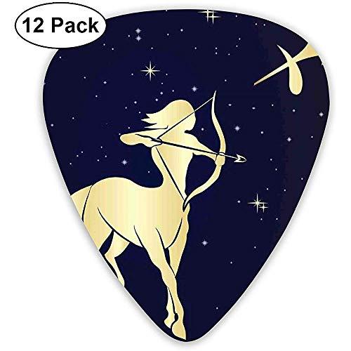Plektren 12er Pack, Sternennacht mit Sternbild Silhouette eines Zentauren
