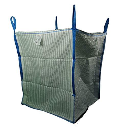 1 Stück * Hochwertiger Holz Big Bag speziell für Brennholz * Woodbag, Holzbag, Zwiebelsack usw. * 100x100x120cm *Boden geschlossen (Belüftungsgewebe)* Holz trocknen + transportieren, (Ohne Inhalt)