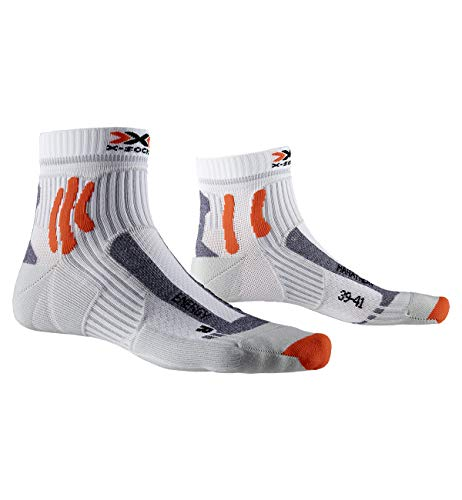 X-Socks Marathon Energy Socks, Unisex Adulto, Arctic White/Pearl Grey, 39-41