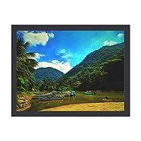 INOV ミスマロヤリバー ポスター フレーム(黒)付 壁掛け インテリア 壁紙用 絵画 アート 壁紙ポスター 40x30cm