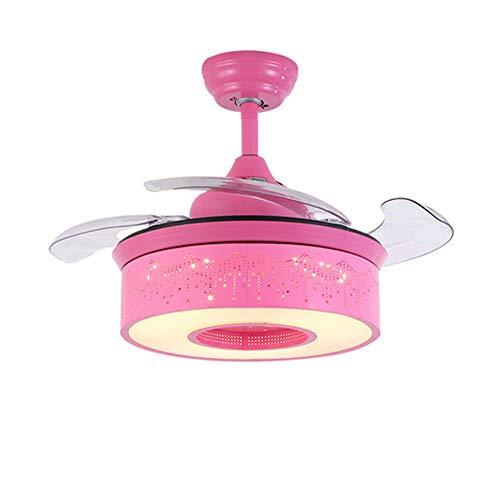 LIGHTJH hanglamp met afstandsbediening Dream Princess Room kinderkamer ventilator plafondlamp 3 kleuren creatief slaapkamer