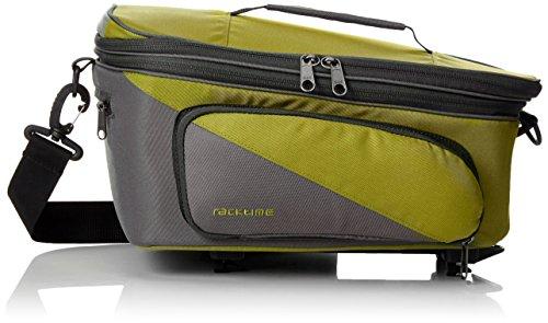 Racktime Unisex– Erwachsene Talis Plus Gepäckträgertasche, grün, 35 x 28 x 26 cm