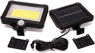 GULEHAY 100 luces solares LED con sensor de movimiento, 30 W 600 lm, luces de seguridad para exteriores, IP65 resistente c...
