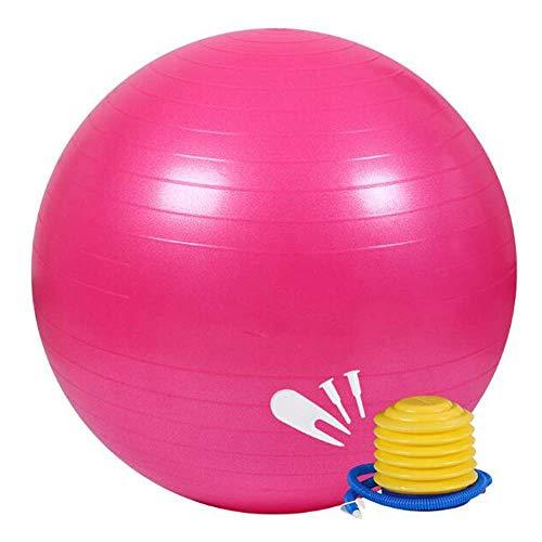 Yoga de la bola con la bomba de aire, bola del ejercicio Anti-Burst Yoga Antideslizante Equilibrio Estabilidad bola suiza for la fuerza de ejercicios de Pilates fitness entrenamiento de la base, Azul