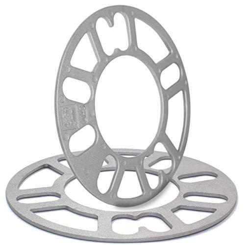 Wheel Accessories Parts Set of 2 Universal Wheel Spacers Fit 4 or 5 Lugs Hub P.C.D. 100MM to 120MM (4x100, 5x100, 5x105, 5x110, 5x114.3, 5x112, 5x120).