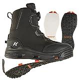 Korkers Devil's Canyon - Botas de vadeo para atletismo y guantes - Incluye fieltro intercambiable y suelas Kling-On