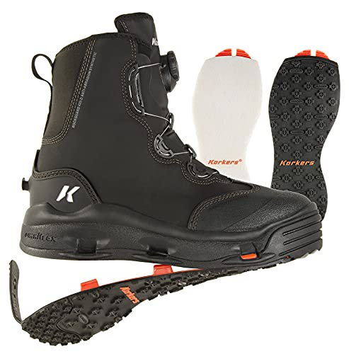 Korkers Devil's Canyon Wading Boots - Athletic and Glove-Like Fit -...