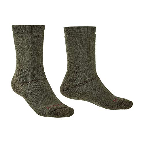 Bridgedale Herren Hike Midweight Merino Endurance Original Socken, olivgrün, L