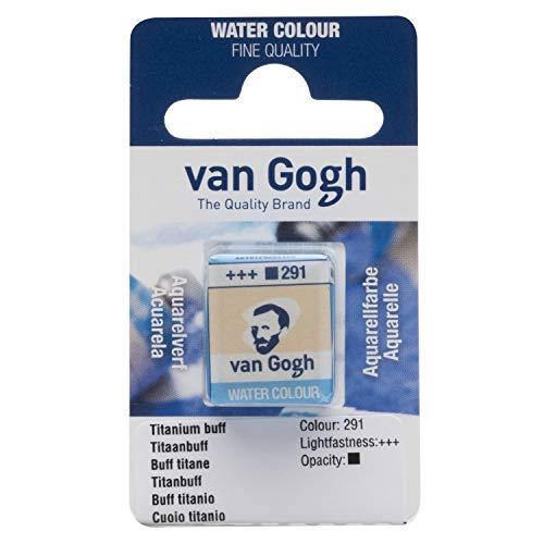 Van Gogh Watercolor Paint, Half Pan, Titanium Buff 291