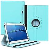 UC-Express Tablet Hülle kompatibel für Huawei MediaPad M2 10.0 Tasche Schutzhülle Hülle Cover 360° Drehbar, Farben:Türkis