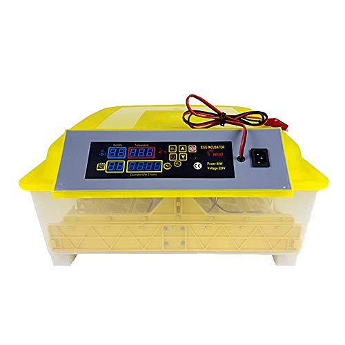 ZFF Incubators, Dual Power Fully Automatic 48 Egg Intelligent Digital Temperature/Humidity Control for Poultry Reptile Hatcher