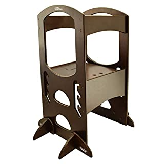 Little Partners' Kids Learning Tower – Child Kitchen Helper Adjustable Height Step Stool, Wooden Frame, Counter Step-Up Active Standing Tower (Espresso) (B01BP6V07O) | Amazon price tracker / tracking, Amazon price history charts, Amazon price watches, Amazon price drop alerts
