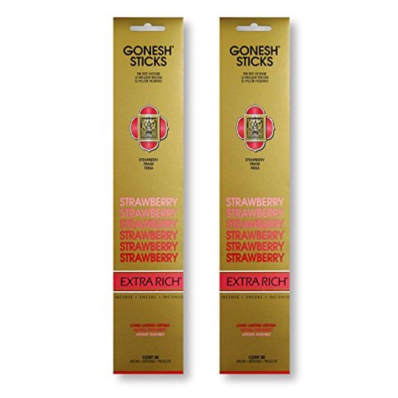 出費知り合い提案GONESH STRAWBERRY ストロベリー スティック 20本入り X 2パック (40本)