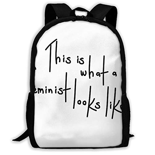 This Is What A Feminist Looks Like School Bag Teenager Casual Sports Backpack Men Women Student Travel Hiking Laptop Backpack