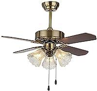 ライトのリモコンのためのLEDの天井のファン木製/アイアンリーフアンティークの天井ファンのための居間ファンのファンシャンデリア