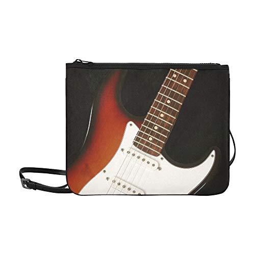 WYYWCY Gitarre benutzerdefinierte hochwertige Nylon dünne Clutch Tasche Umhängetasche Umhängetasche