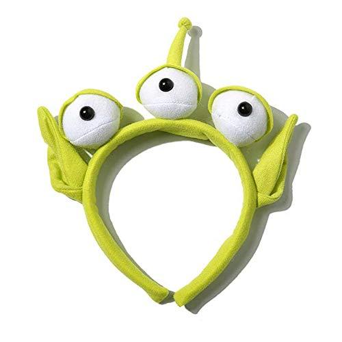 ONECHANCE Diadema alienígena Diadema de Globo Ocular Monstruo Verde Peluches para Accesorios de Disfraces de Halloween Color Diadema