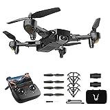 GPS Drone avec caméra UHD 4K pour Adultes, Photographie aérienne Professionnelle UAV, quadcoptère 5g WiFi FPV, Distance de 1800 m Ultra Longue Distance, Batterie Double (Color : Black)