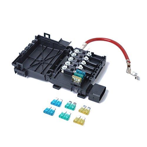 LanLan Borne de Batterie de boîte à fusibles 1J0937550A pour 1999-2004 VW Jetta Golf Mk4 Beetle