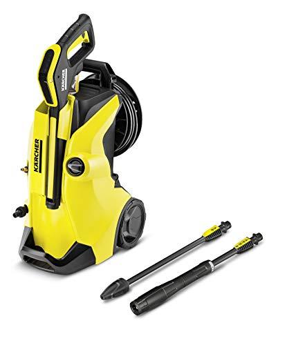 Kärcher Hochdruckreiniger K 4 Premium Full Control (Druck: 20-130 bar, Fördermenge: 420 l/h, Schlauchtrommel, 2x Strahlrohr, Power Pistole)