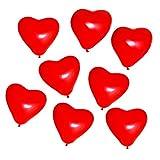 Beyond Dreams 25 Globos Globos Rojos | Globos en Forma de corazón de látex para la decoración del Partido Propuesta de Matrimonio Boda Aniversario Cumpleaños Decoración de Helio | Regalo