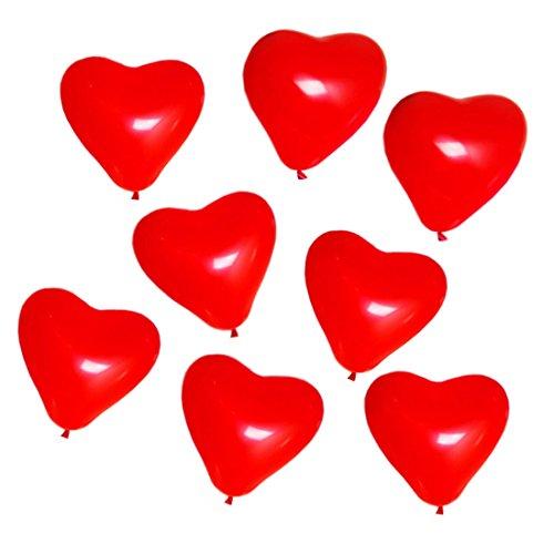 25 Stücke Rote Herzballons Luftballons | Herzförmige Ballons für Party Dekoration Hochzeit Heiratsantrag Jahrestag Geburtstag Deko Geschenk
