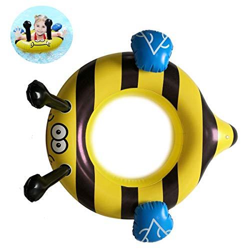 QUN FENG Baby zwembad Float Cute Bee opblaasbare zwemmen Ring Float veilige stoel peuter hulp opleiding zwembad zwemmen Float voor kinderen van 3 jaar en ouder