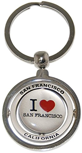 I Love San Francisco Spinning Souvenir Llavero: Amazon.es: Oficina ...